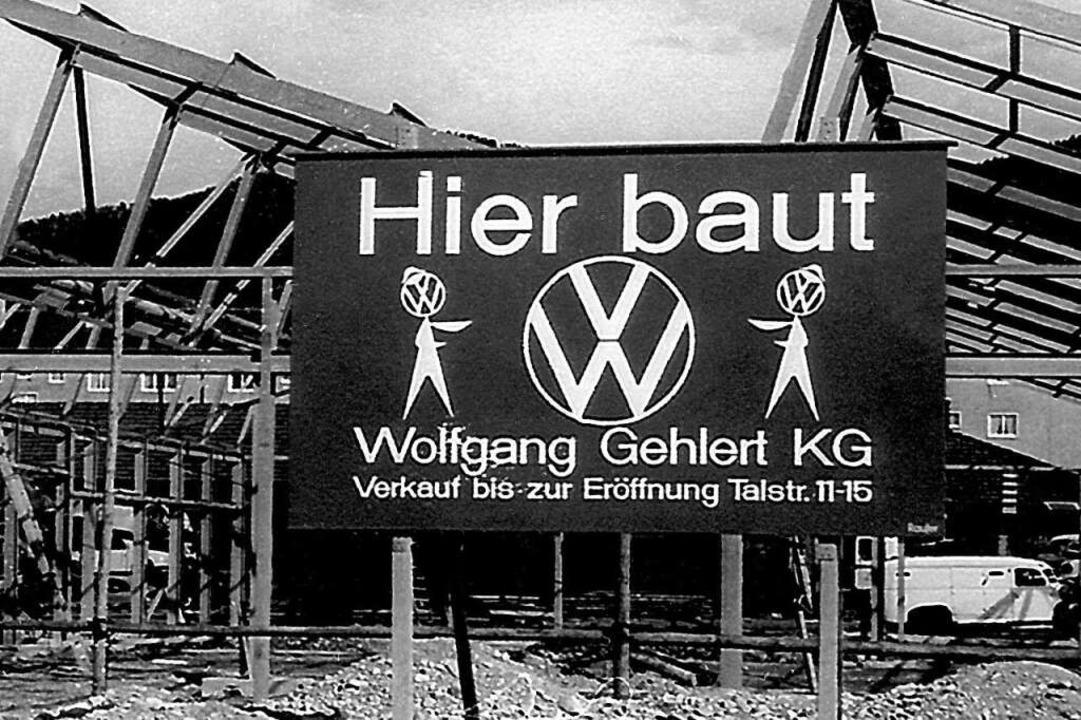 Im Jahr 1961 begann der Bau des Autohauses an der Karlsruher Straße  | Foto: Autohaus Gehlert