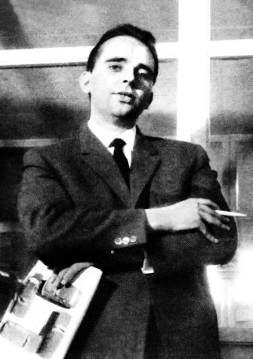 Franz Xaver Grünwald als junger Verkäufer im Jahr 1957/58  | Foto: Autohaus Gehlert