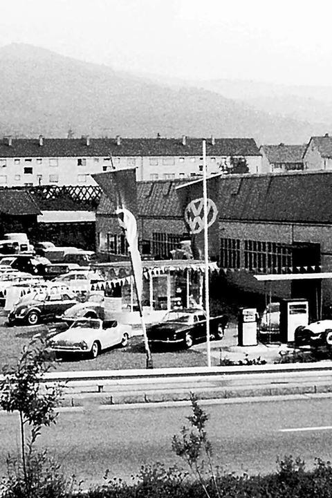 Der Betrieb wurde an der Karlsruher St...evor er 1986 an die Tullastraße umzog.  | Foto: Autohaus Gehlert