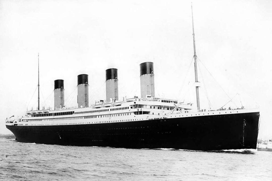Das Passagierschiff RMS Titanic der br...nd sank 1912 bei seiner Jungfernfahrt.  | Foto: Pa