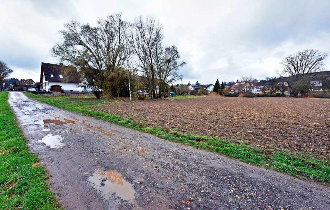 Beim Baugebiet Niedermatten in Waltershofen geht es nicht voran.     Foto: Michael Bamberger