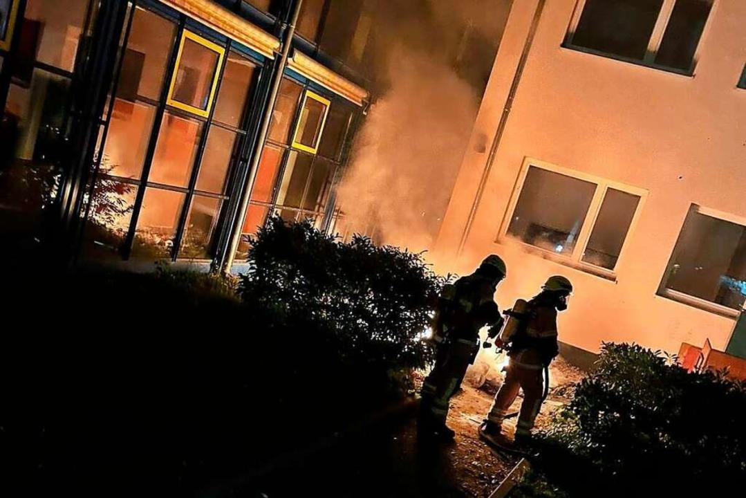 Die Feuerwehr hat schnell gelöscht.  | Foto: Freiwillige Feuerwehr Heitersheim