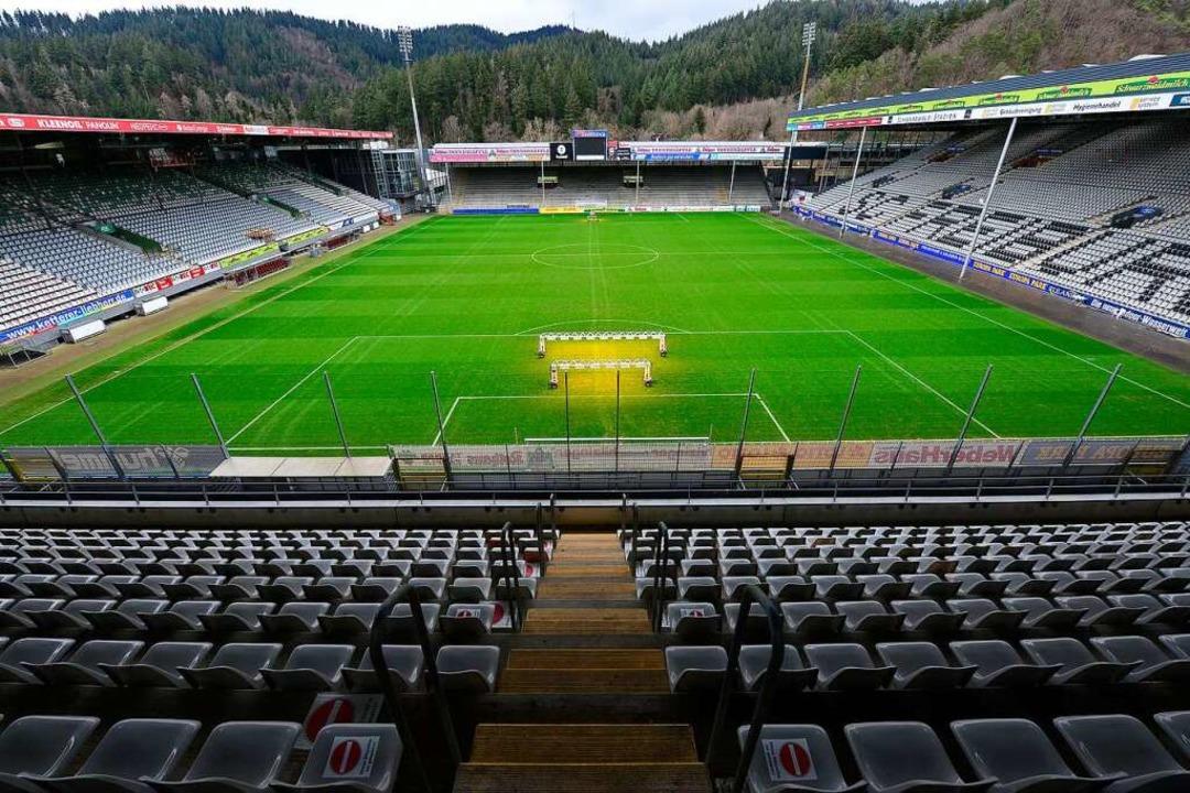 Das Schwarzwaldstadion könnte am Samst.... Ganz sicher ist das aber noch nicht.  | Foto: Ingo Schneider