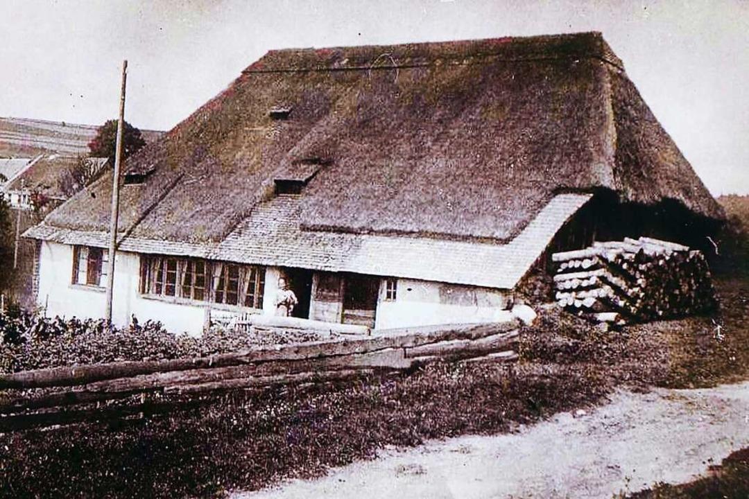 Eine historische Fotografie des Keller...ans Mehlins Urgroßmutter Anna aufwuchs  | Foto: privat