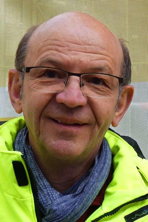 Bauleiter Karlheinz Frisch    Foto: Peter Stellmach
