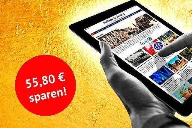 Letzte Chance: Jetzt 55 Euro sparen und ein Jahr lang BZ-Online lesen