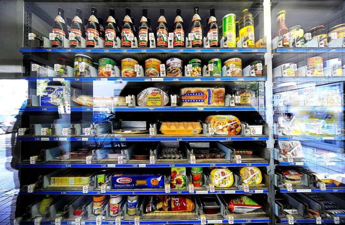 Lebensmittel rund um die Uhr: die Automaten-Emma.     Foto: Thomas Kunz