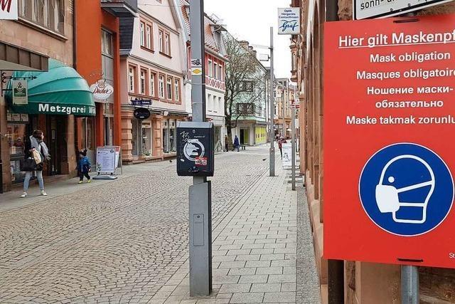 Die Stadt Lahr muss die Maskenpflicht in der Innenstadt ab Samstag aufheben