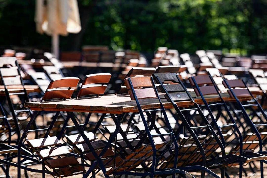 Nicht alle befragten Gastronomen wolle...de wieder Gäste empfangem(Symbolbild).  | Foto: Fabian Sommer (dpa)