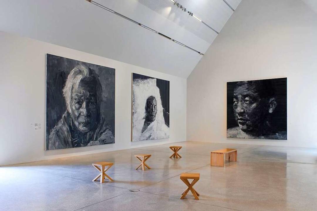Werke, die den Betrachter in einen dir...n: Porträts von Yan Pei-Ming in Colmar  | Foto: Clérin-Morin © Yan Pei-Ming, ADAGP, Paris, 2021