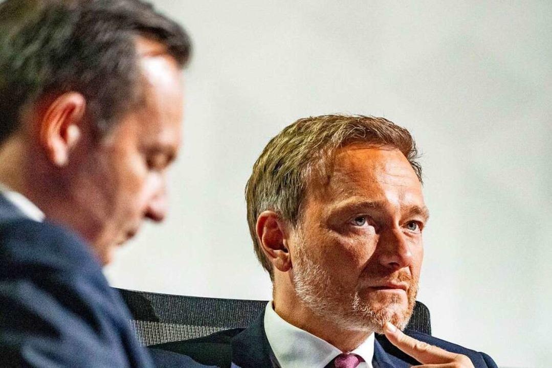 Mit 93 Prozent wurde Parteichef Christian Lindner im Amt bestätigt.  | Foto: Michael Kappeler (dpa)