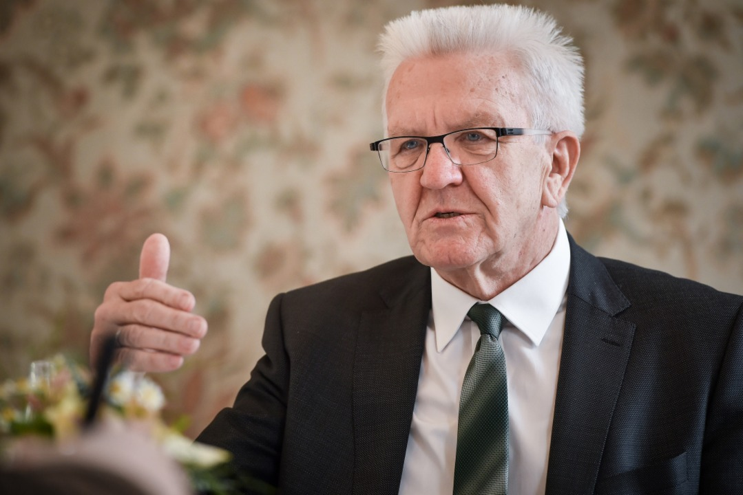 Ministerpräsident Winfried Kretschmann im Interview    Foto: Ferdinando Iannone