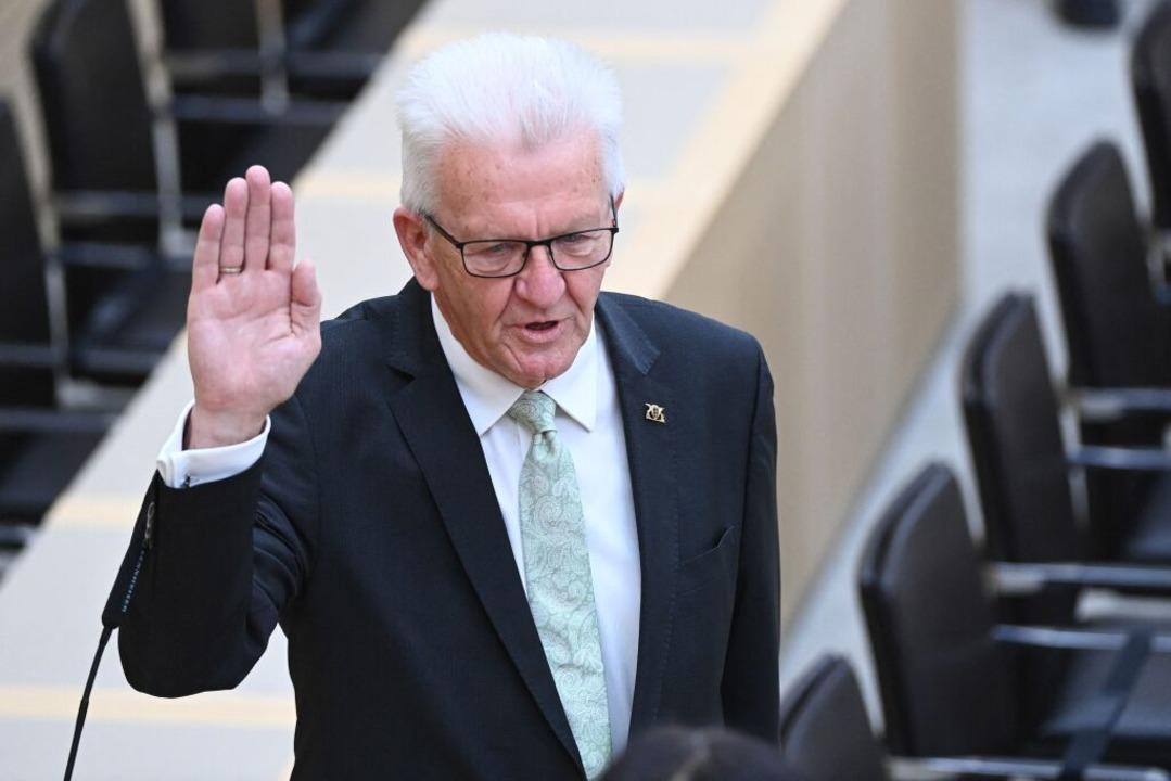 Winfried Kretschmann ist zum dritten M... von Baden-Württemberg gewählt worden.    Foto: BERND WEISSBROD (AFP)