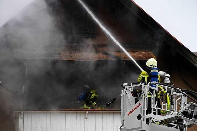 Dachstuhlbrand verursacht in Müllheim hohen Sachschaden