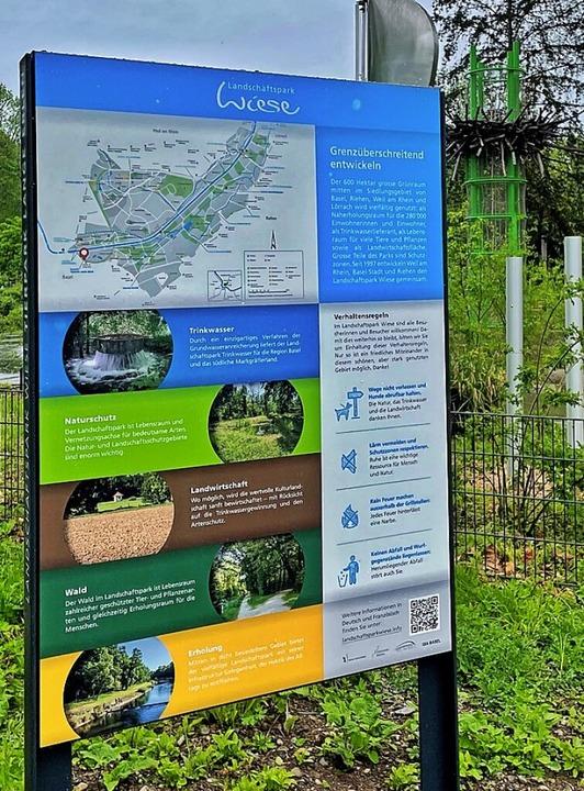 Eines der neuen Schilder  | Foto: Arbeitsgruppe Landschaftspark Wiese