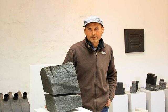 Wie der Forchheimer Künstler Ulrich Sälzle aus Steinen Kunst schafft