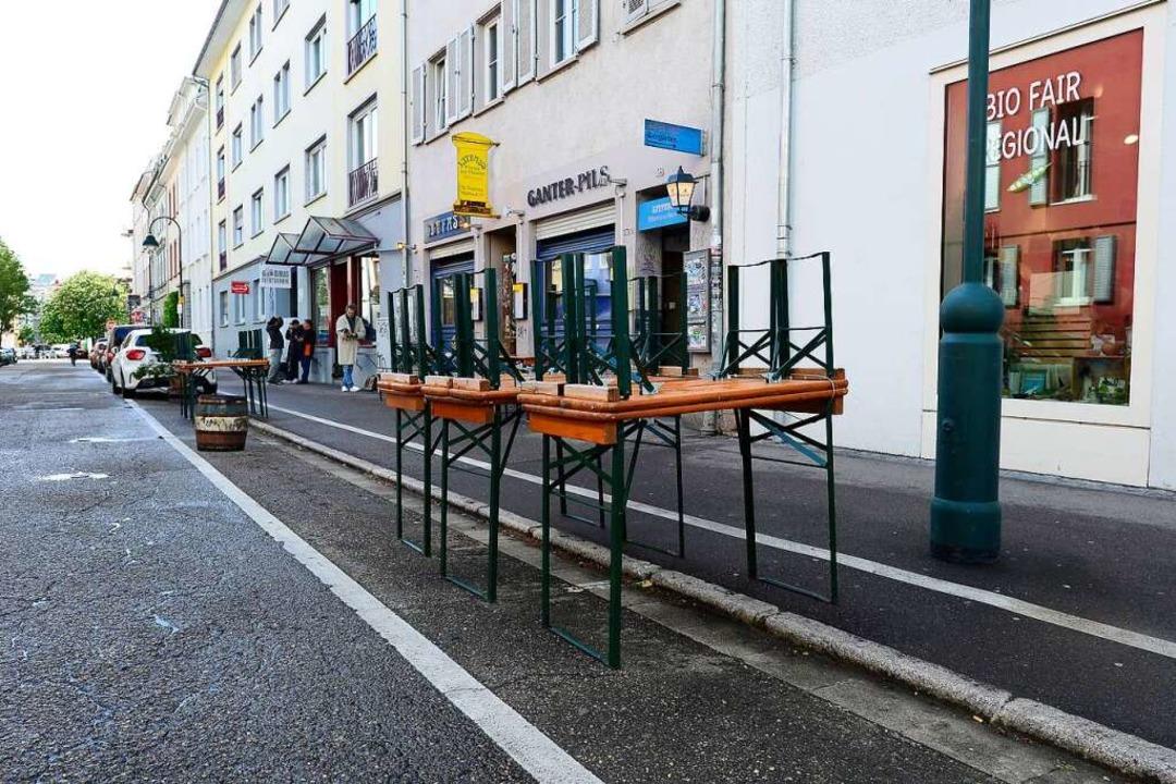 Auch die 2020 neu geschaffenen Außensi...nnen, schlägt die Stadtverwaltung vor.    Foto: Ingo Schneider