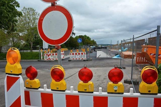 Die Heldelinger Unterführung in Haltingen sieht fertig aus, bleibt aber geschlossen