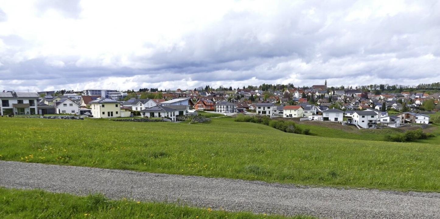 """Das Wohngebiet """"Mittlishardt&#82...weitere Bauplätze erschlossen werden.     Foto: Juliane Kühnemund"""