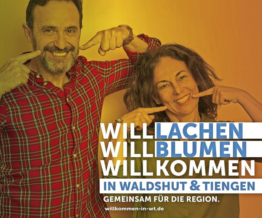 Die Kampagne: Mit einem Lächeln wollen...die Kunden künftig willkommen heißen.   | Foto:  Agentur Logos Lab