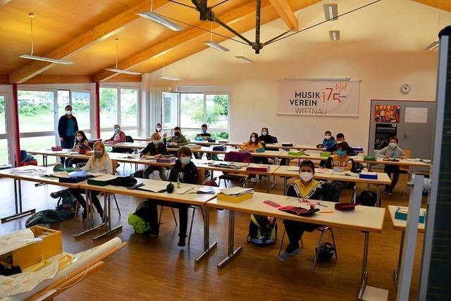 Grundschüler in Wittnau werden im Vereinshaus unterrichtet