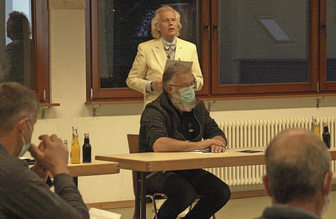 Eberhard Bertschinger Eicke wurde als ...derat 15 Minuten Redezeit eingeräumt.     Foto: Karin Stöckl-Steinebrunner