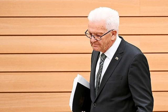 Kretschmann pocht bei Regierungserklärung auf Klimaschutz
