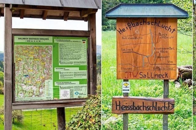 Das Kleine Wiesental erneuert 13 Wander- und Informationstafeln