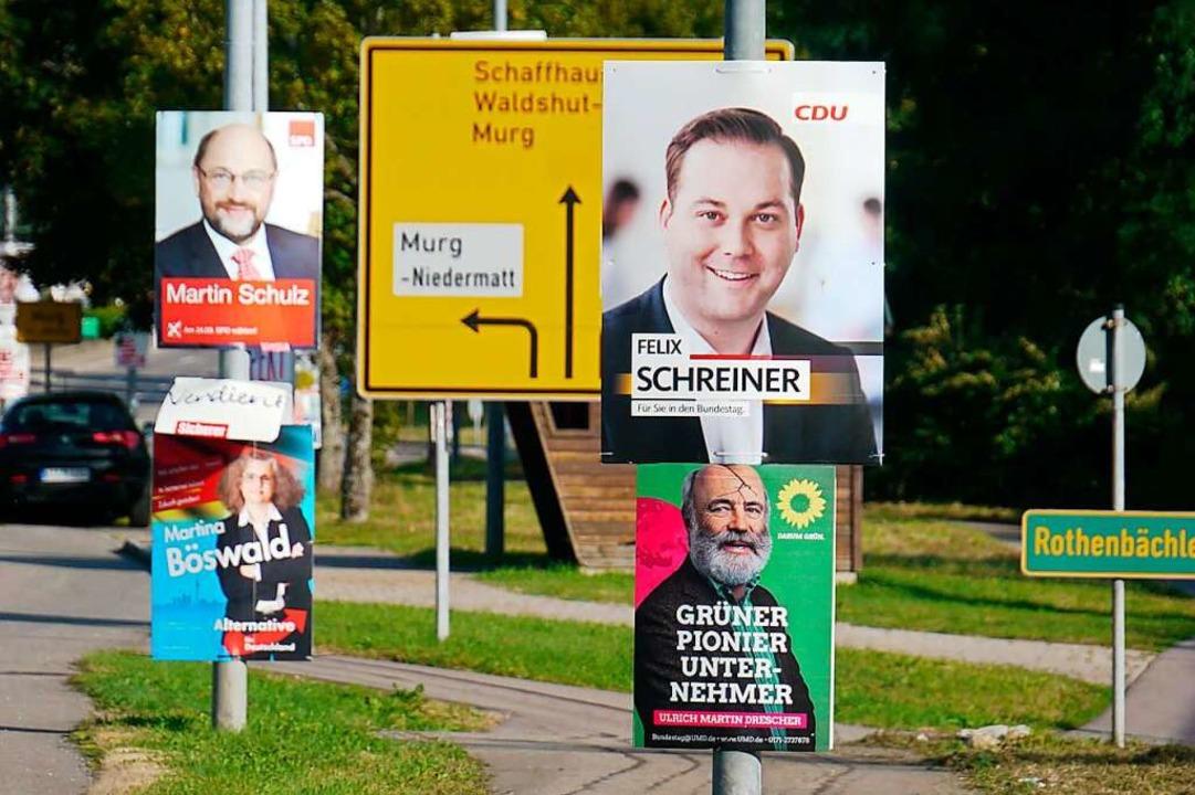 Wo welche Plakate an Straßen erlaubt s...Laufenburger Gemeinderat nun geregelt.  | Foto: Winfrfied Dietsche