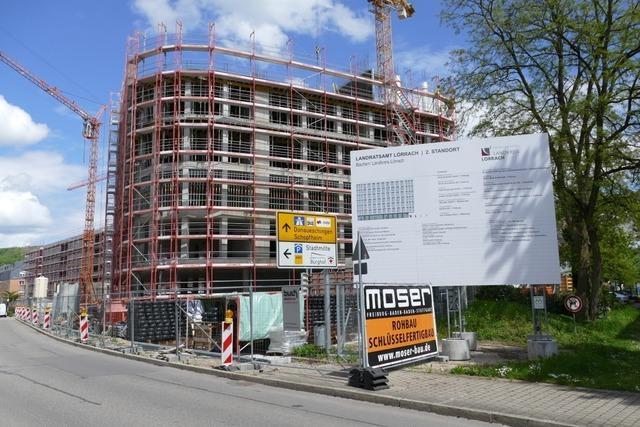 Beim Neubau für das Lörracher Landratsamt drohen weitere Kostensteigerungen