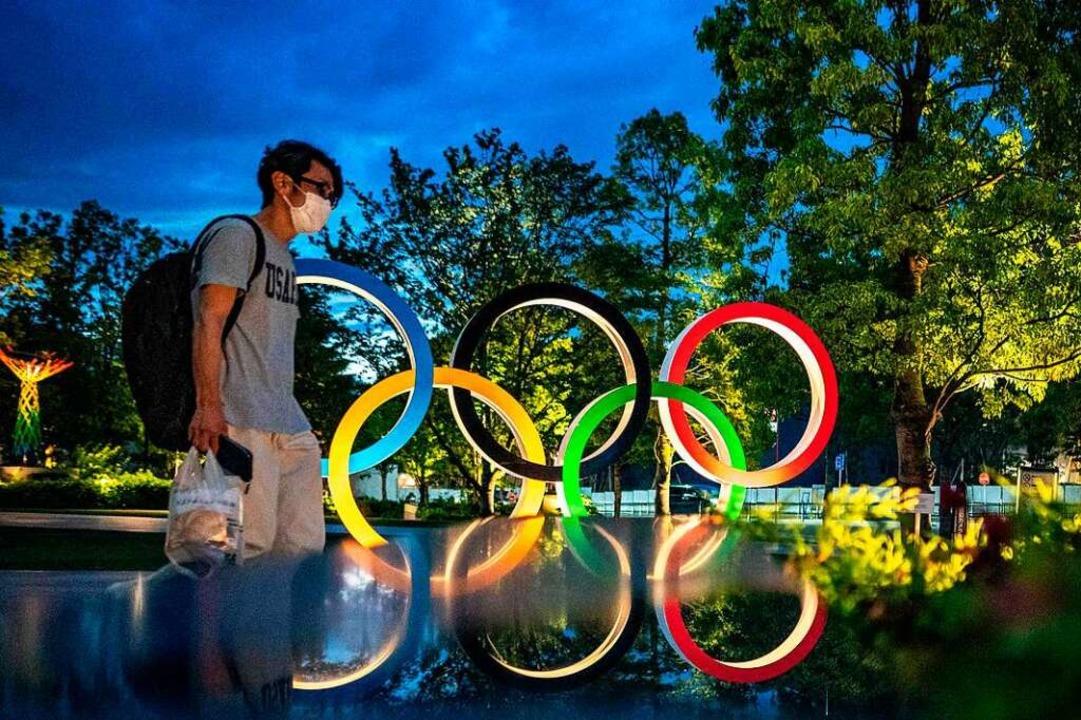 Olympia-Begeisterung will in Japan nicht so richtig aufkommen.  | Foto: PHILIP FONG (AFP)