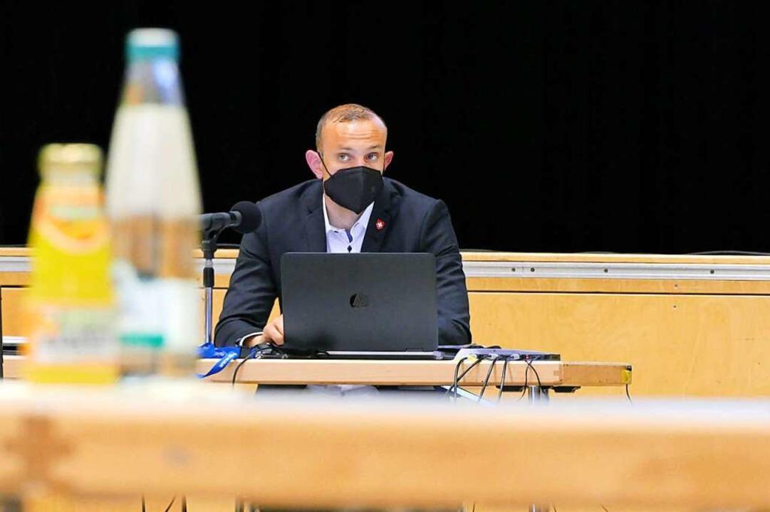 Heitersheims Bürgermeister Christoph Zachow hielt den Antrag für rechtswidrig.  | Foto: Simone Höhl