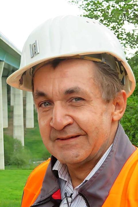 Frank Bloos, Geschäftsführer Bau und E...er Autobahn GmbH, Außenstelle Freiburg    Foto: Peter Gerigk