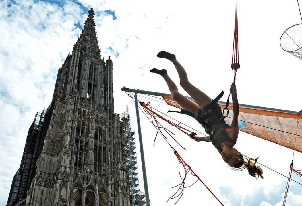 Spektakulär: Das Landesturnfest 2016 in Ulm  | Foto: Stefan Puchner