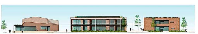 Das Büro Held Architekten schlägt eine...schossigen Teil-Neubau der Schule vor.  | Foto: Held Architektur