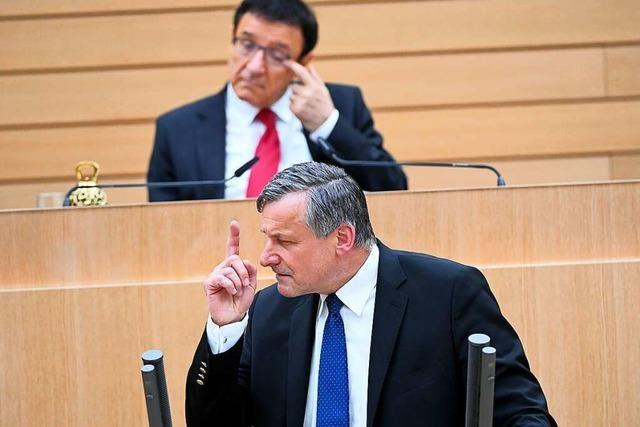 Opposition im Landtag greift grün-schwarze Koalition an