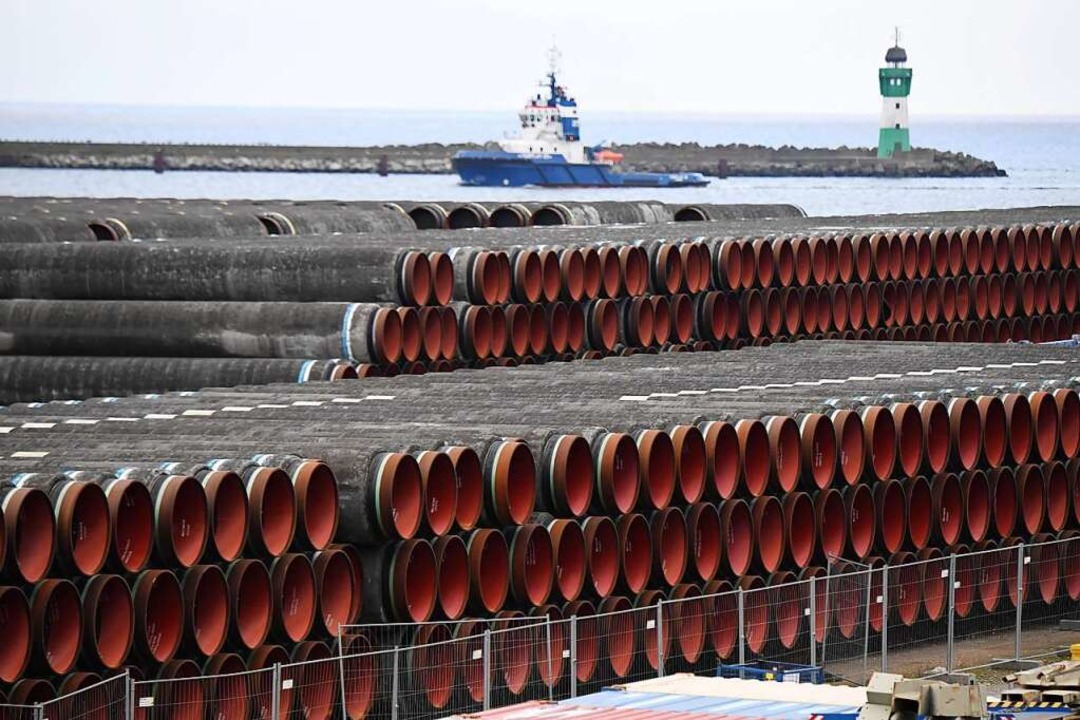 Die USA setzen auf Kooperation statt K...gte am Bau der Pipeline Nord Stream 2.  | Foto: Stefan Sauer (dpa)