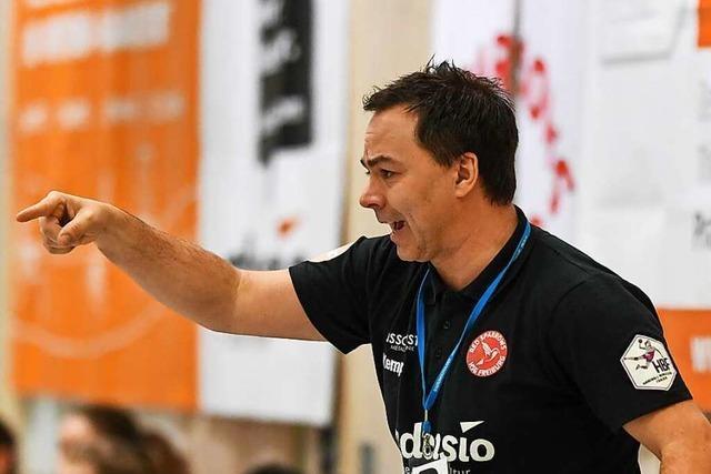 Trainer Ralf Wiggenhauser blickt auf seine Ära bei der HSG Freiburg zurück