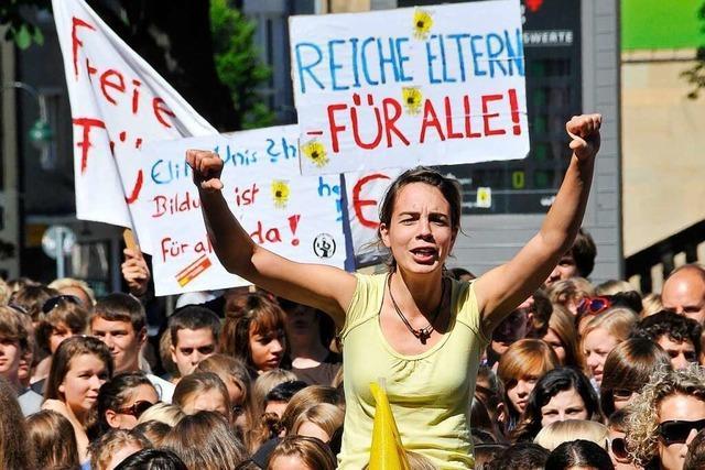 Demonstrieren gehört in Freiburg zum guten Ton