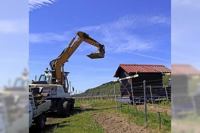 Schutzhütte wird abgebaut