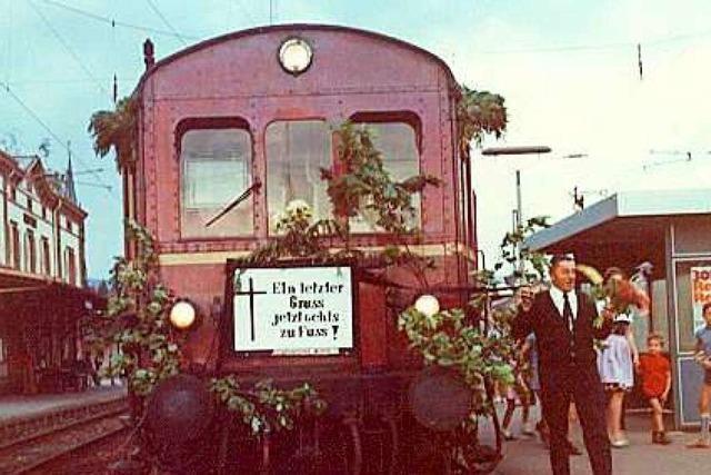 Vor 50 Jahren fuhr der letzte Zug auf der Wehratalbahn