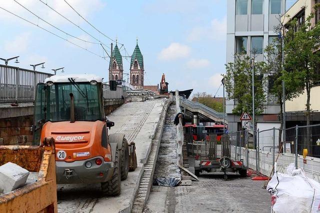 Freiburger Stadtbahnbrücke startet in die zweite Bauphase
