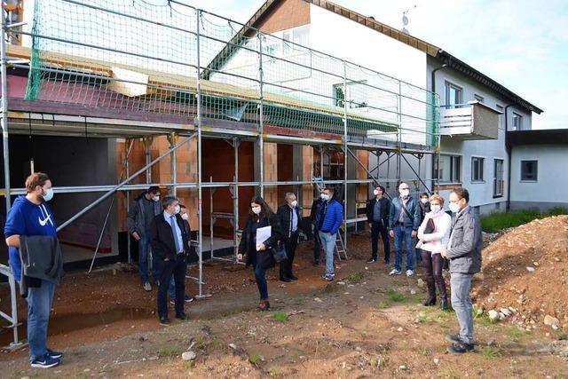 Der Rohbau der Kindergarten-Erweiterung St. Martin ist fertig