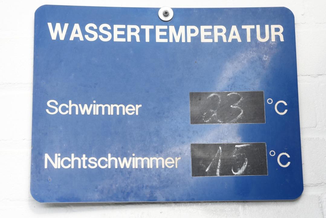 Anbaden mit Schlotterfaktor – di...mmerbecken hatte erfrischende 20 Grad.    Foto: Rita Eggstein