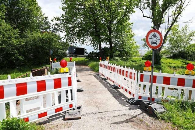 Der Lärmschutzwall in Meißenheim-Kürzell bleibt vorerst offen