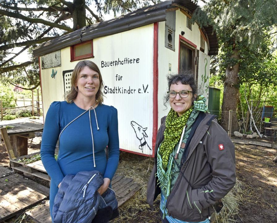 """Cora (links) und Kerstin Geigenbauer h... Stadtkinder"""" ins Leben gerufen.    Foto: Michael Bamberger"""