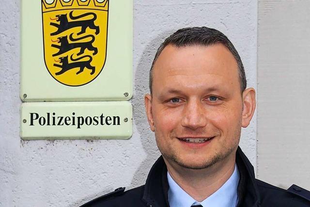 Jürgen Blank ist neuer Leiter des Polizeipostens Hohberg