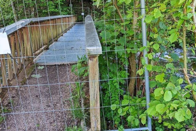 Schwarzwälder Hof-Brücke derzeit für unbekannte Zeit gesperrt