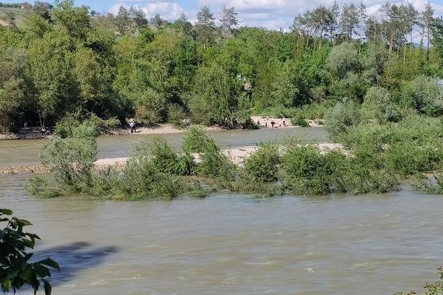Rettungskräfte holen sieben Personen von Rheininsel bei den Isteiner Schwellen