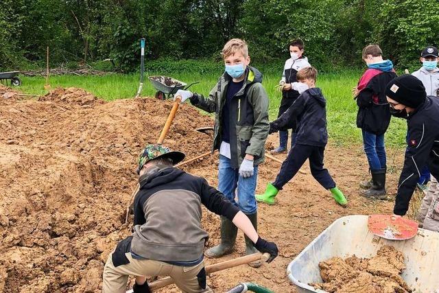 Jugendliche bauen in Binzen ihren eignen, legalen Bike-Trail